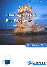 19 October 2012 - eChallenges