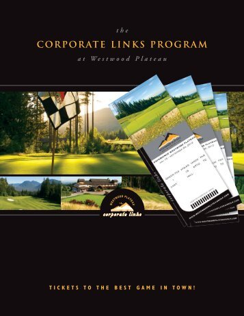 to download the Corporate Links PDF - Westwood Plateau Golf and ...