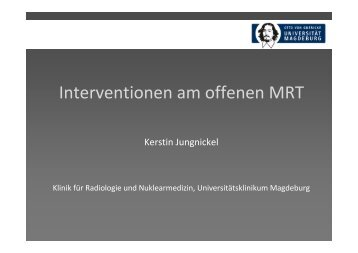 Interventionen am offenen MR
