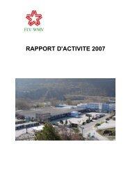RAPPORT D'ACTIVITE 2007 - valait
