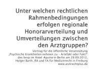 Vortrag von RA Holger Barth zur Honorarverteilung