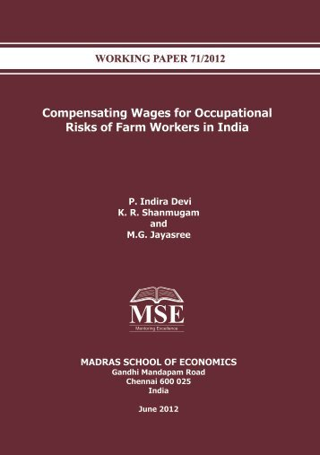 Compensating Wages for Occupational Risks of Farm Workers in India
