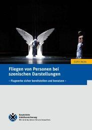 Fliegen von Personen bei szenischen Darstellungen (Flugwerke