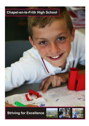 Prospectus for 2013 entry (PDF) - Chapel-en-le-Frith High School