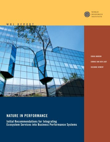 NATURE IN PERFORMANCE - World Resources Institute