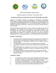 XXVII Foro del Clima de América Central Ciudad de Guatemala ...