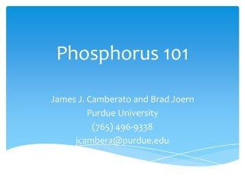 Phosphorus 101 - Indiana CCA Program