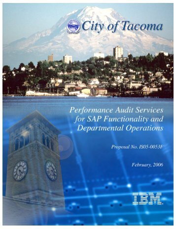 City of Tacoma Performance Audit for SAP