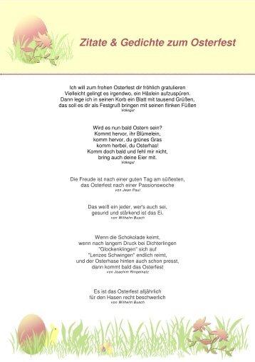 Zitate Gedichte Ostern