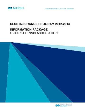 Club Insurance - Ontario Tennis Association