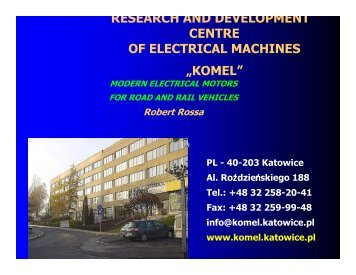 research and development centre of electrical machines ... - PolSCA