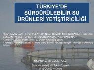 türkġye'de sürdürülebġlġr su ürünlerġ - Ziraat Fakültesi - Ankara ...