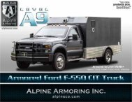 ARMORED FORD F-550 4x4 CIT TRUCK - Alpine Armoring Inc.