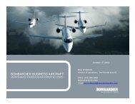 BOMBARDIER BUSINESS AIRCRAFT - Bombardier Events website
