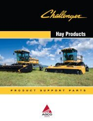 Challenger Hay Products Catalog - AGCO Parts