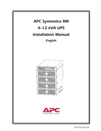 APC Modbus Register Map-Three-Phase UPS Manual