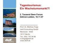 Tagestourismus: Ein Wachstumsmarkt?! - Tausend Seen Forum
