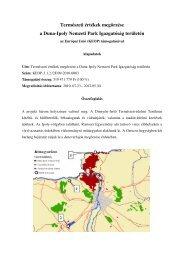 Természeti értékek megőrzése a Duna-Ipoly Nemzeti Park ...