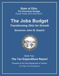 The Tax Expenditure Report - The Office of Budget and ...