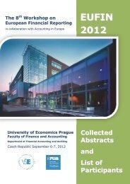 EUFIN 2012 - Vysoká škola ekonomická v Praze
