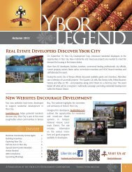 Real Estate Developers Discover Ybor City New ... - City of Tampa