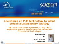 Leveraging on PLM technology to adopt product sustainability ...