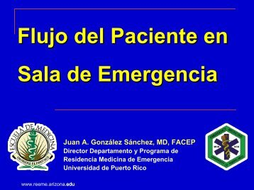 Flujo del Paciente en Sala de Emergencia - Reeme.arizona.edu