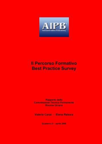 Il Percorso Formativo Best Practice Survey