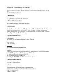Protokoll der Vorstandssitzung vom 01.09.2003 Anwesend: Andrea ...