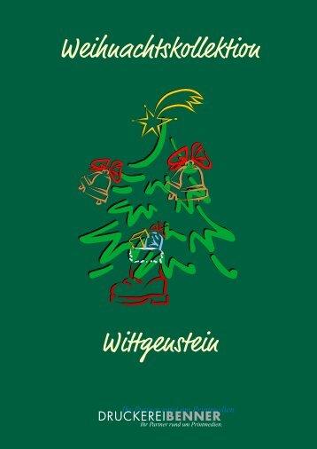 Weihnachtskarten-Kollektion 2009 - Druckerei Benner