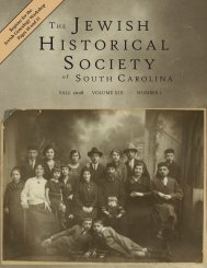 th e jewish h istorical s ociety - Jewish Historical Society of South ...