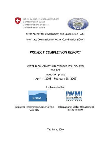 Project Completion Report Project Status Quarterly Report Sample