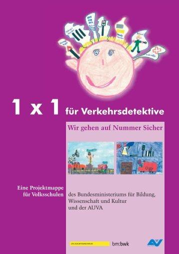 1 x 1 für Verkehrsdetektive - Bundesministerium für Unterricht, Kunst ...