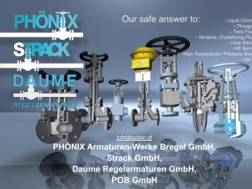 DAUME Regelarmaturen Gmbh - Flow and Control Engineering