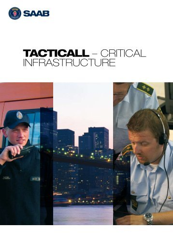 TactiCall Critical Infrastructure brochure - Saab