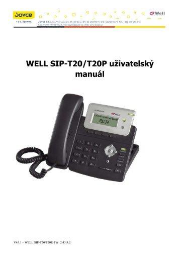 WELL SIP-T20/T20P uživatelský manuál - SkyFon