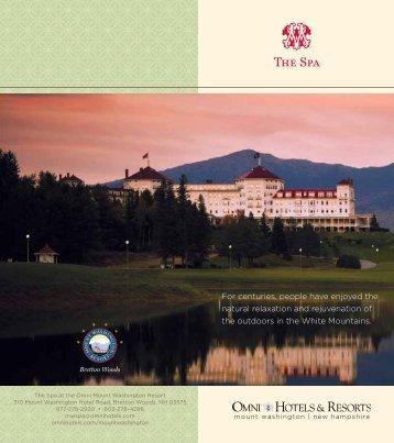 Spa Brochure - Bretton Woods