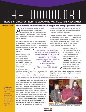 News & information from the woodward avenue