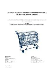 Strategies to promote sustainable consumer behaviour - lumes