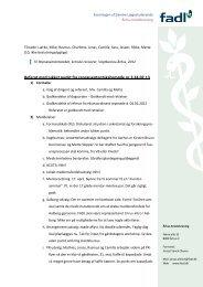 Referat med lukket punkt fra repræsentantskabsmøde nr.3 ... - Fadl