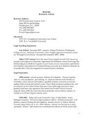 1 RESUME Richard K. Gilbert Business Address : 601 ... - NACDL