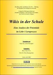 WIKIS - Potentiale für die Schule - WikiService.at