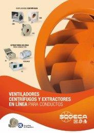 ventiladores centrífugos y extractores en línea para ... - Sodeca