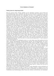 Erste Gedanken zu Foucault - Korrekturen