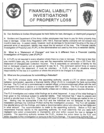 dd form 200, financial liability investigation of property loss