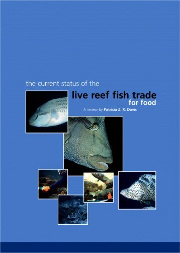 the current status of the live reef fish trade for food