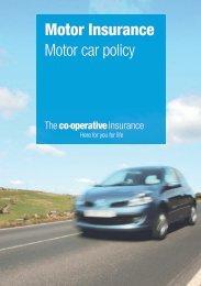 Motor Insurance Motor car policy - The Co-operative Insurance