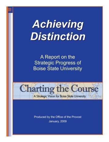 Achieving Distinction - Academics - Boise State University