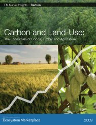 Carbon and Land-Use: - Ecosystem Marketplace
