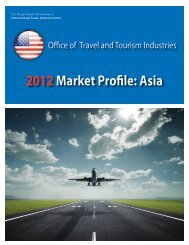 2012Market Profile: Asia - Office of Travel and Tourism Industries